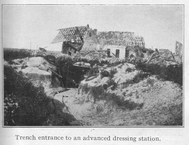 Trench Entrance to an advanced dressing station.